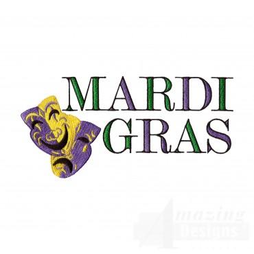 Mardi Gras Drama Embroidery Design