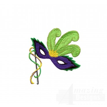 Mardi Gras Mask 1 Embroidery Design