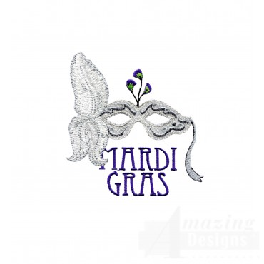Mardi Gras Mask 3 Embroidery Design