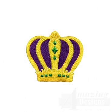 Mardi Gras Crown Embroidery Design