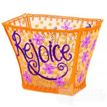 Hoop704 Rejoice Basket Embroidery Designs