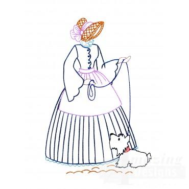 Vl116 Belle With Dog
