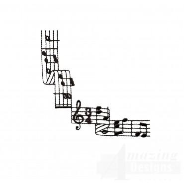 Stylish Notation Corner 2 Embroidery Design