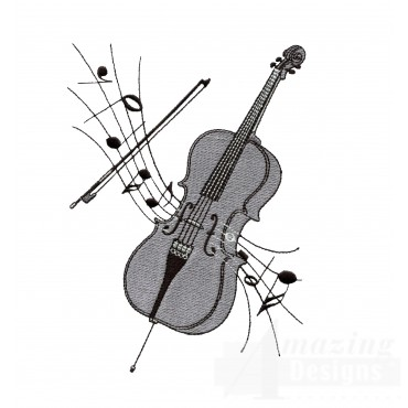 Cello Embroidery Design