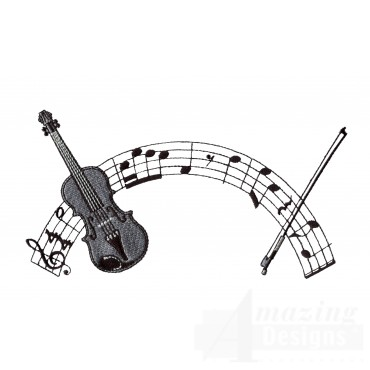 Violin 2 Embroidery Design