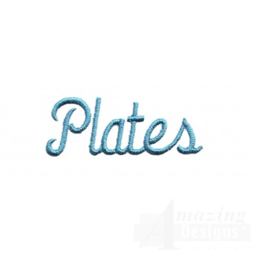 Plates Lettering