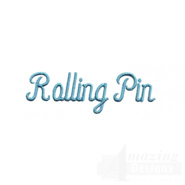 Rolling Pin Lettering