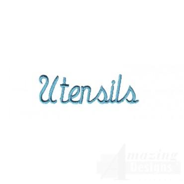 Utensils Lettering