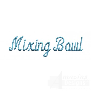 Mixing Bowl Lettering