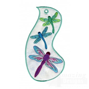 Dragonflies Ith Novelty Bookmark Embroidery Design