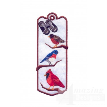 Birds Ith Novelty Bookmark Embroidery Design