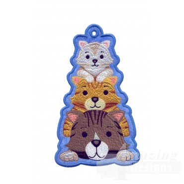 Kittens Ith Novelty Bookmark Embroidery Design