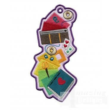 Fabric 2 Ith Novelty Bookmark Embroidery Design