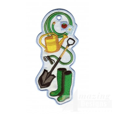 Gardening Ith Novelty Bookmark Embroidery Design