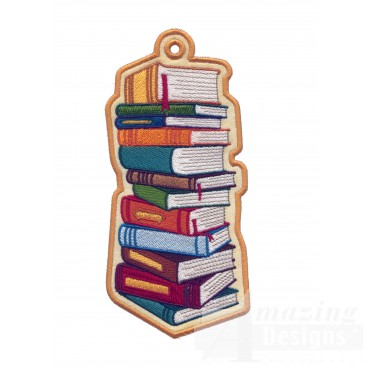 Books Ith Novelty Bookmark Embroidery Design
