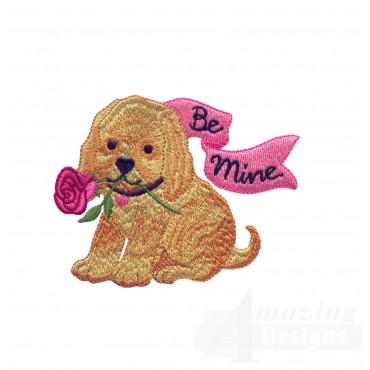 Love102 Puppy Love Embroidery Design
