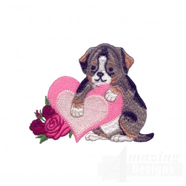 Love103 Puppy Love Embroidery Design