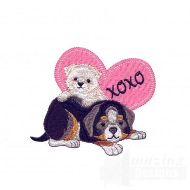 Love106 Puppy Love Embroidery Design