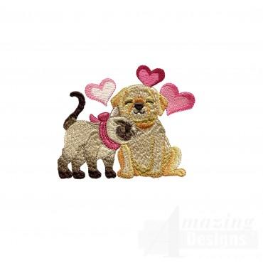 Love116 Puppy Love Embroidery Design