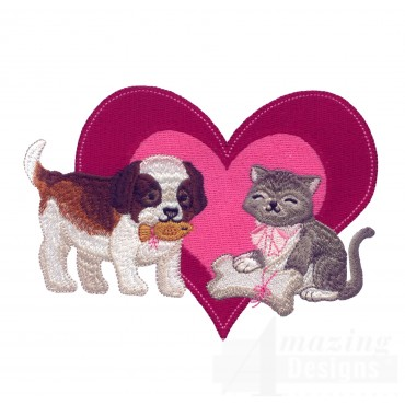 Love120 Puppy Love Embroidery Design