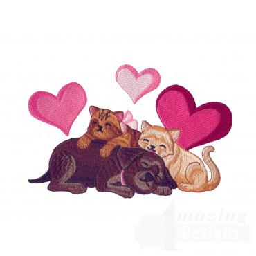 Love121 Puppy Love Embroidery Design
