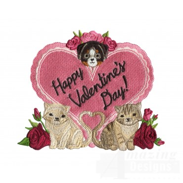 Love124 Puppy Love Embroidery Design