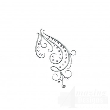 Dazzling Scroll Accent 1 Embroidery Design