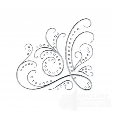 Dazzling Scroll Accent 4 Embroidery Design