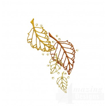 Dazzling Leaf Accent 1 Embroidery Design