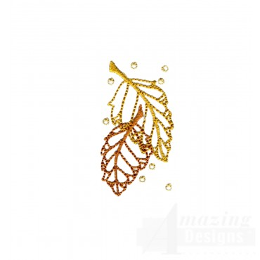 Dazzling Leaf Accent 3 Embroidery Design