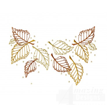 Dazzling Leaf Accent 5 Embroidery Design