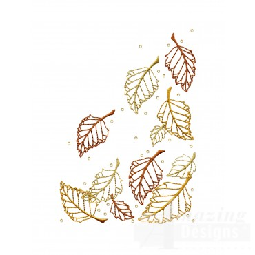 Dazzling Leaf Accent 6 Embroidery Design