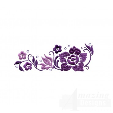 Dazzling Flower Accent 2 Embroidery Design