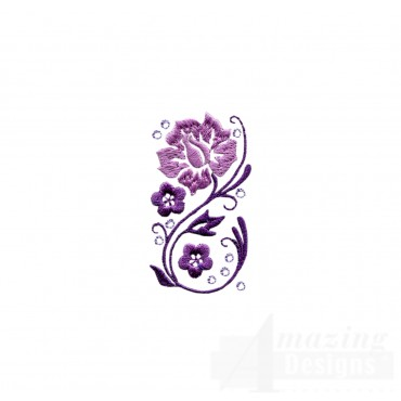 Dazzling Flower Accent 3 Embroidery Design