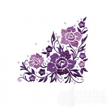 Dazzling Flower Accent 4 Embroidery Design