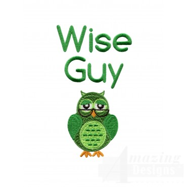 Wise Guy Owl Embroidery Design