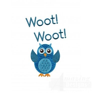 Woot Woot Owl Embroidery Design