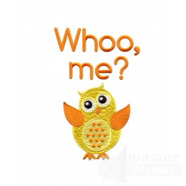Whoo Me Owl Embroidery Design