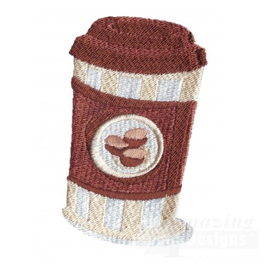 To Go Coffee Embroidery Design