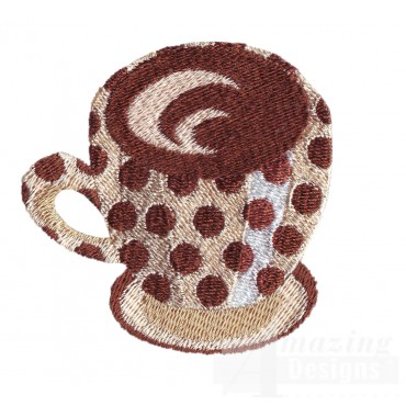 Coffee Mug 2 Embroidery Design
