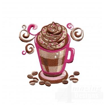 Coffee Mug Embroidery Design