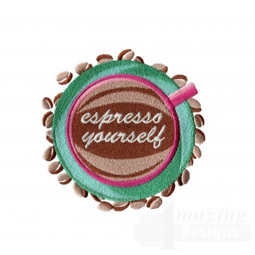 Espresso Yourself Embroidery Design