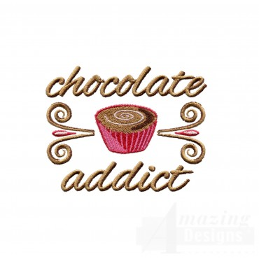 Chocolate Addict Embroidery Designs