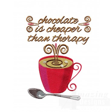Chocolate Therapy Embroidery Designs