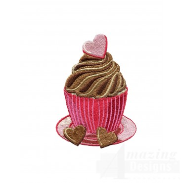 Chocolate Cupcake Embroidery Designs