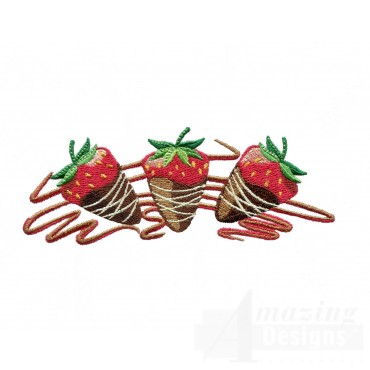 Chocolate Covered Strawberries Embroidery Designs
