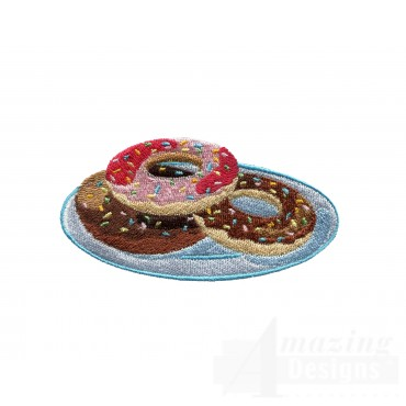 Chocolate Doughnuts Embroidery Designs