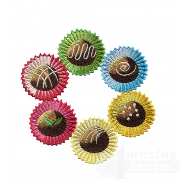Chocolate Truffles Embroidery Designs