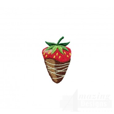 Chocolate Strawberrry Embroidery Designs
