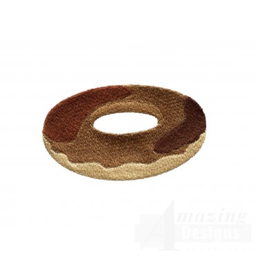 Chocolate Doughnut  Embroidery Designs